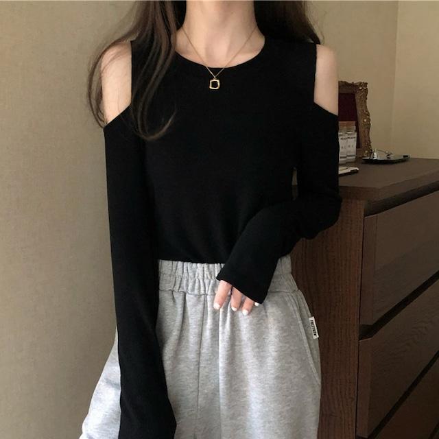【トップス】合わせやすい シンプル エレガント 無地 カジュアル Tシャツ52443707