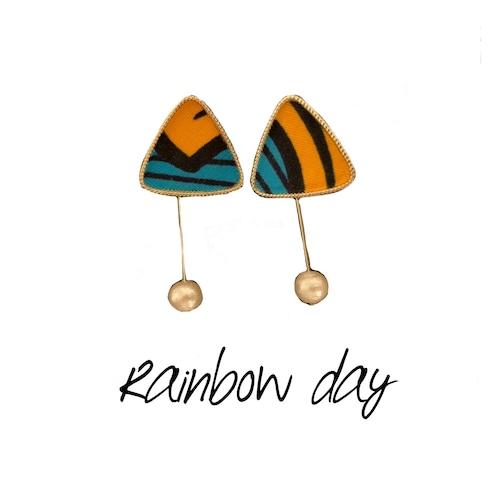 【ピアス】虹の日(オレンジ)