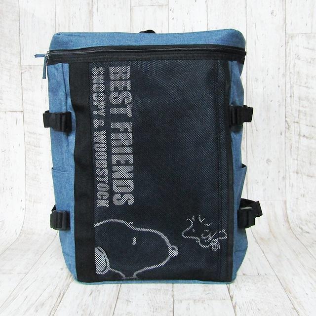 スヌーピー刺繍スウェットビッグトートバッグ(スポーツ柄) ネイビー