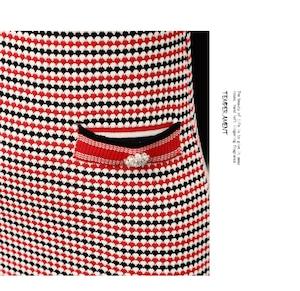 ♡帯リボン付きトリコロールワンピース