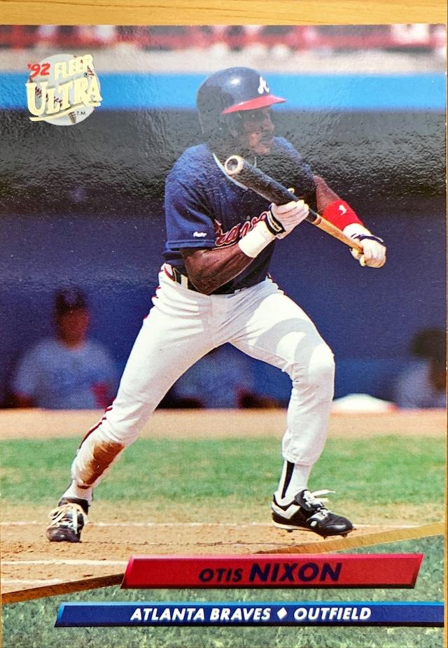 MLBカード 92FLEER Otis Nixon #461 BRAVES