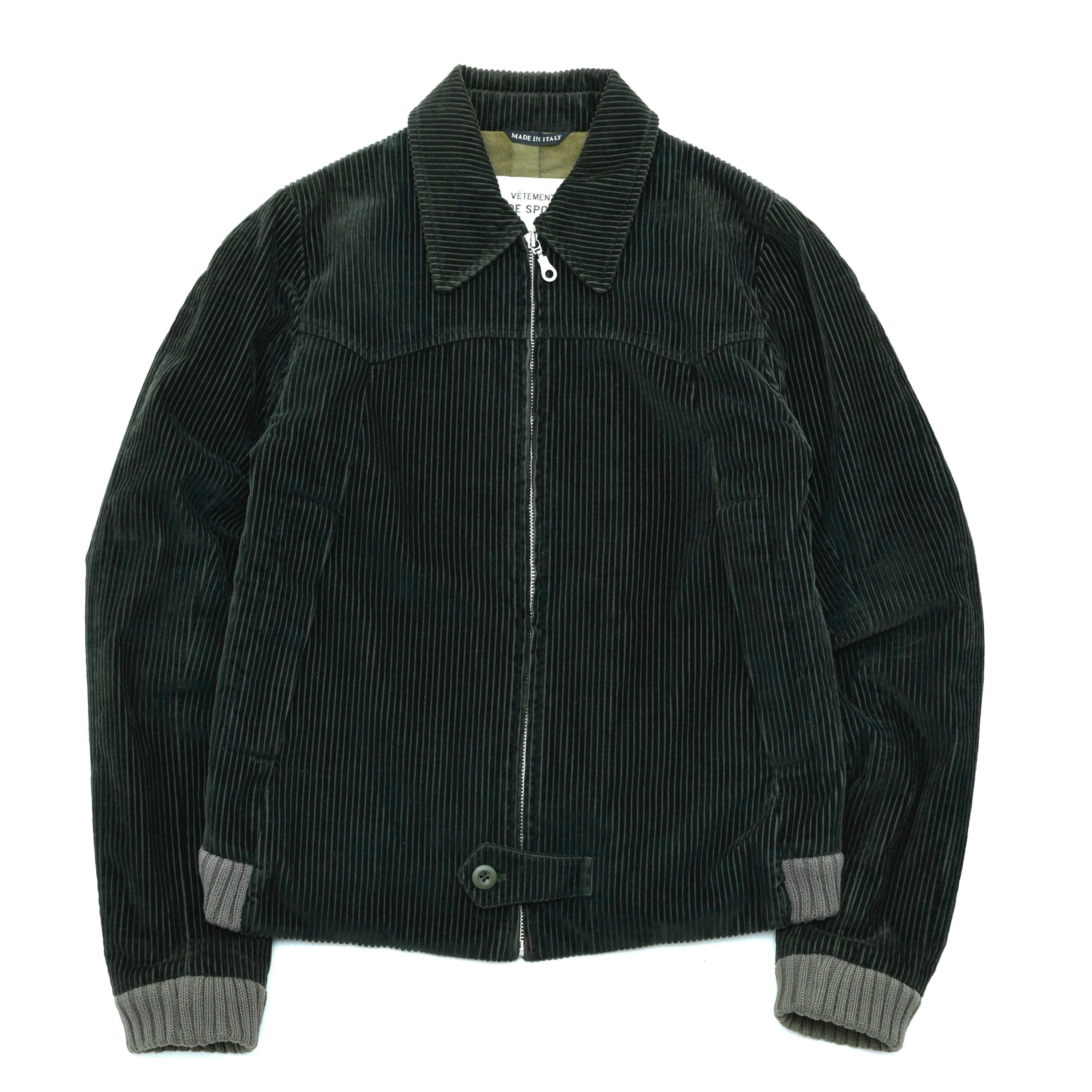 Made in Italy Dark green corduroy jacket