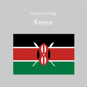 国旗ステッカー ケニア