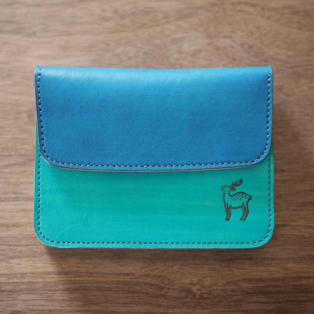 蛇腹ポケット財布(水縹×瑠璃 / MIZUHANADA x RURI)ミニ財布