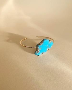 Turquoise bangle  /  on the beach      OBH-001