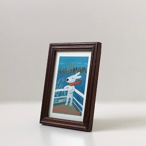 クラシカルなフォトフレーム Brown Wood(16.5cm)|Classic Photo Frame