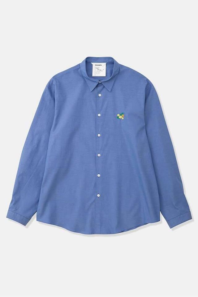 DIGAWEL / Embroidery Shirt(SAX)