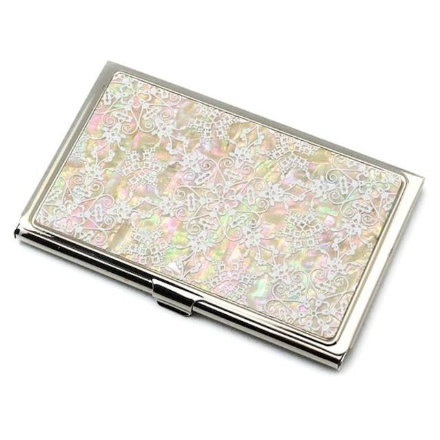天然貝 名刺カードケース(星のかけら)シェル・螺鈿アート