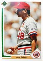 MLBカード 91UPPERDECK Jose DeLeon #220 CARDINALS