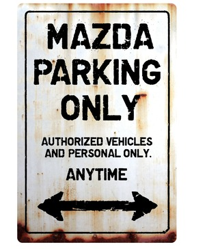 【送料無料】MAZDA Parking Onlyサインボード パーキングオンリー ヴィンテージ風 サインプレート マツダ  ガレージサイン アメリカ雑貨 アメリカン雑貨 壁飾り ウォールデコレーション 壁面装飾 おしゃれ インテリア 雑貨