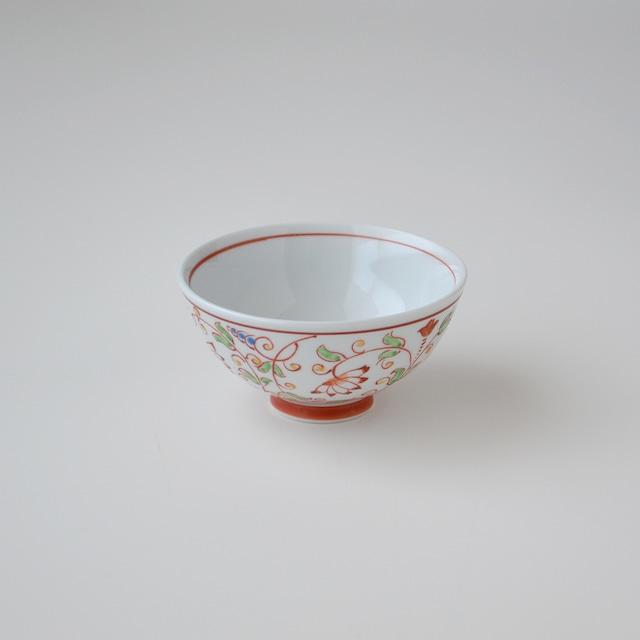 【吉田焼】つる草紋 赤飯碗