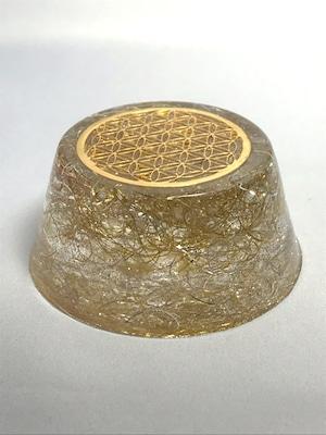 円型オルゴナイト【シトリン&天然水晶】金運・財運&健康運もOK