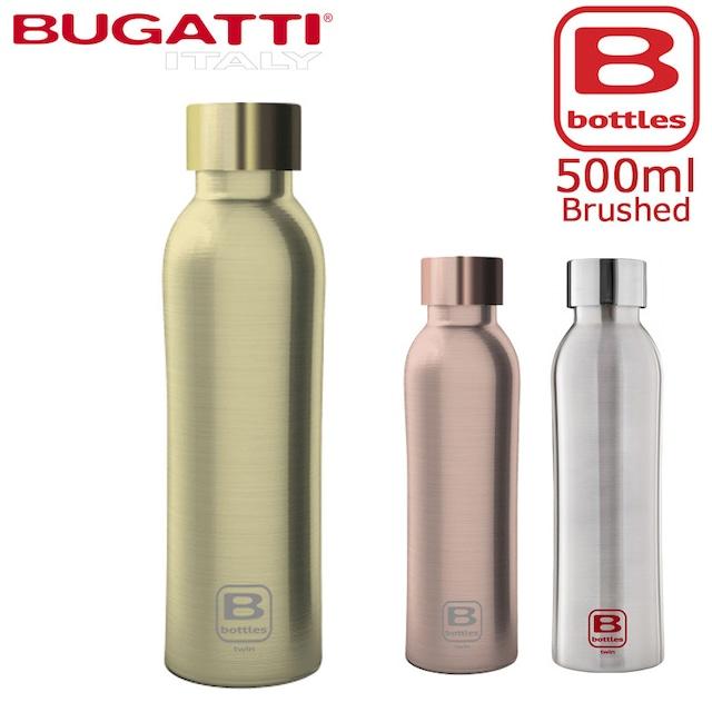 BUGATTI ブガッティ Bボトル 500 Brushed 真空 2重 ステンレスボトル 500ml 水筒 キャンプ アウトドア グッズ 用品