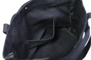 2WAY HEAVY CANVAS LOGO TOTE BAG [BLACK]