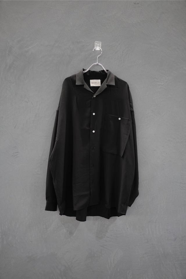 INTERPLAY Open color shirt  Black