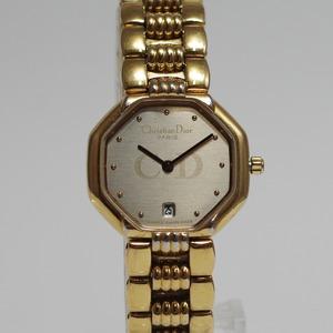 Christian Dior ディオール 48.153 SS クオーツ グレー文字盤 腕時計 レディース