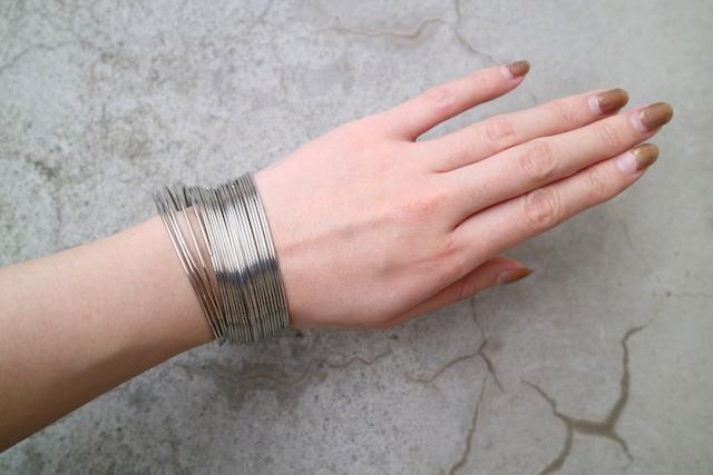 Silver many many bracelet