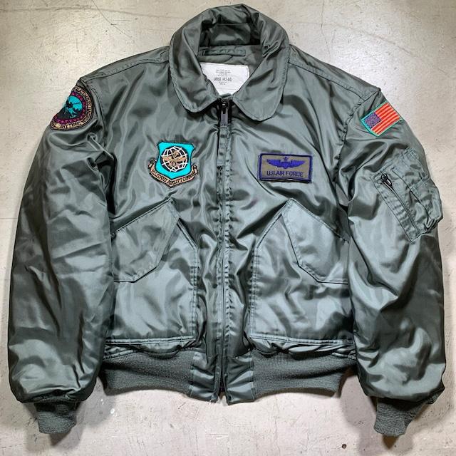 80's U.S.AIR FORCE USAF CWU-45/P フライトジャケット ノーメックス 難燃 DLA100-8-C-0588 ISRATEX社 MIL-J-83388D LARGE 美品 希少 ヴィンテージ BA-1581 RM2000H