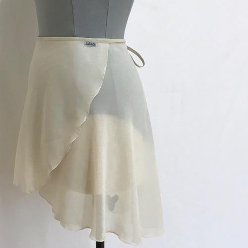 "❖""Fiorina"" Ballet Wrap Skirt - Ecru [Sheer]( エクリュ [シアー])"
