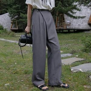 Asymmetry drape pants(アシンメトリードレープパンツ)b-409