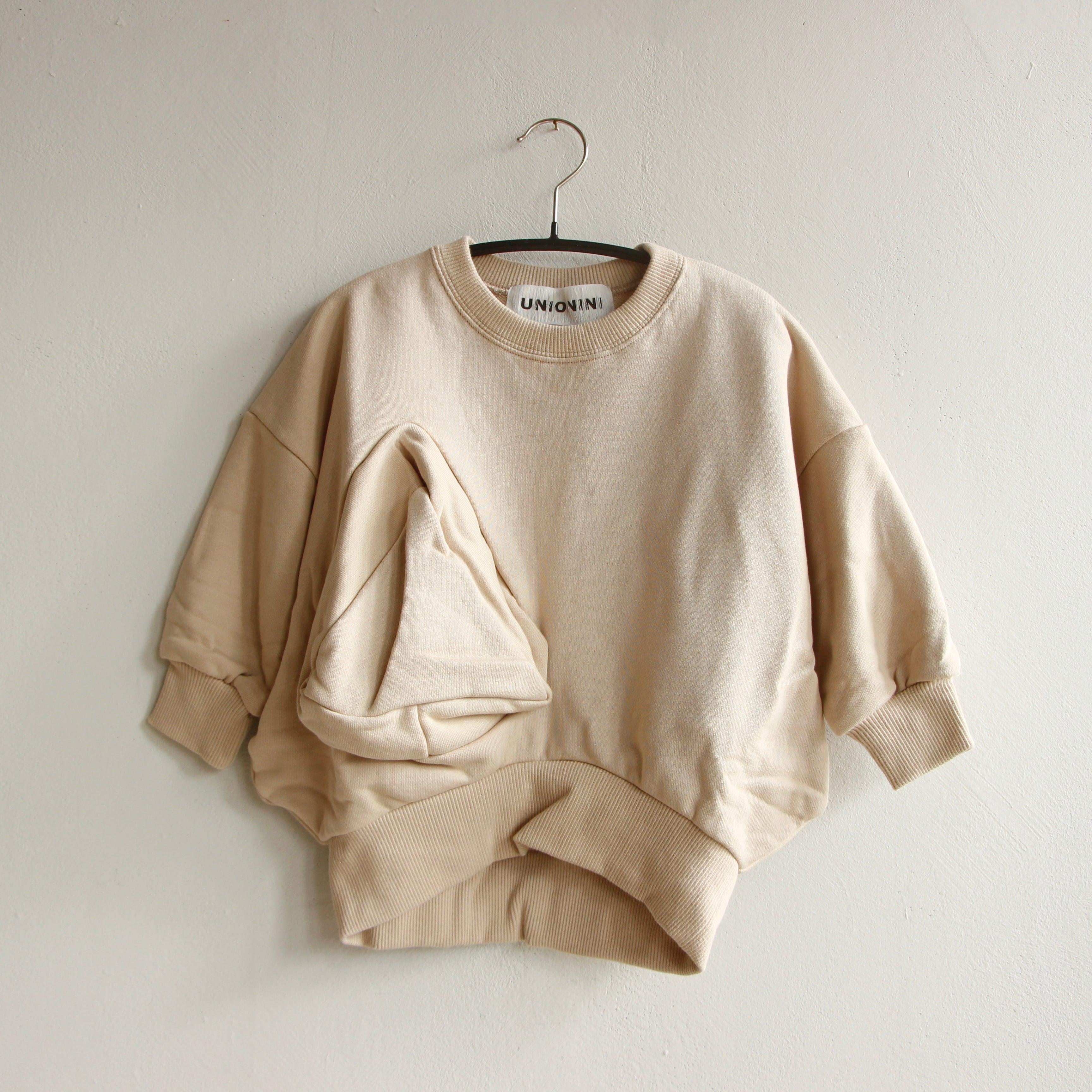 《UNIONINI 2021AW》◯△ sweat shirt / kinari / 1-12Y