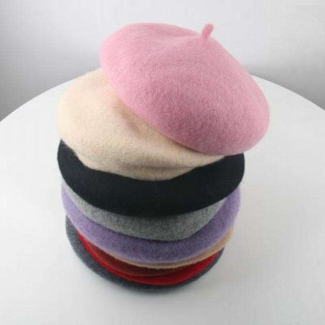 48〜54cm 12カラー ★ カラバリ 豊富 ベレー帽 帽子 秋冬 キッズ 大人 親子おそろい