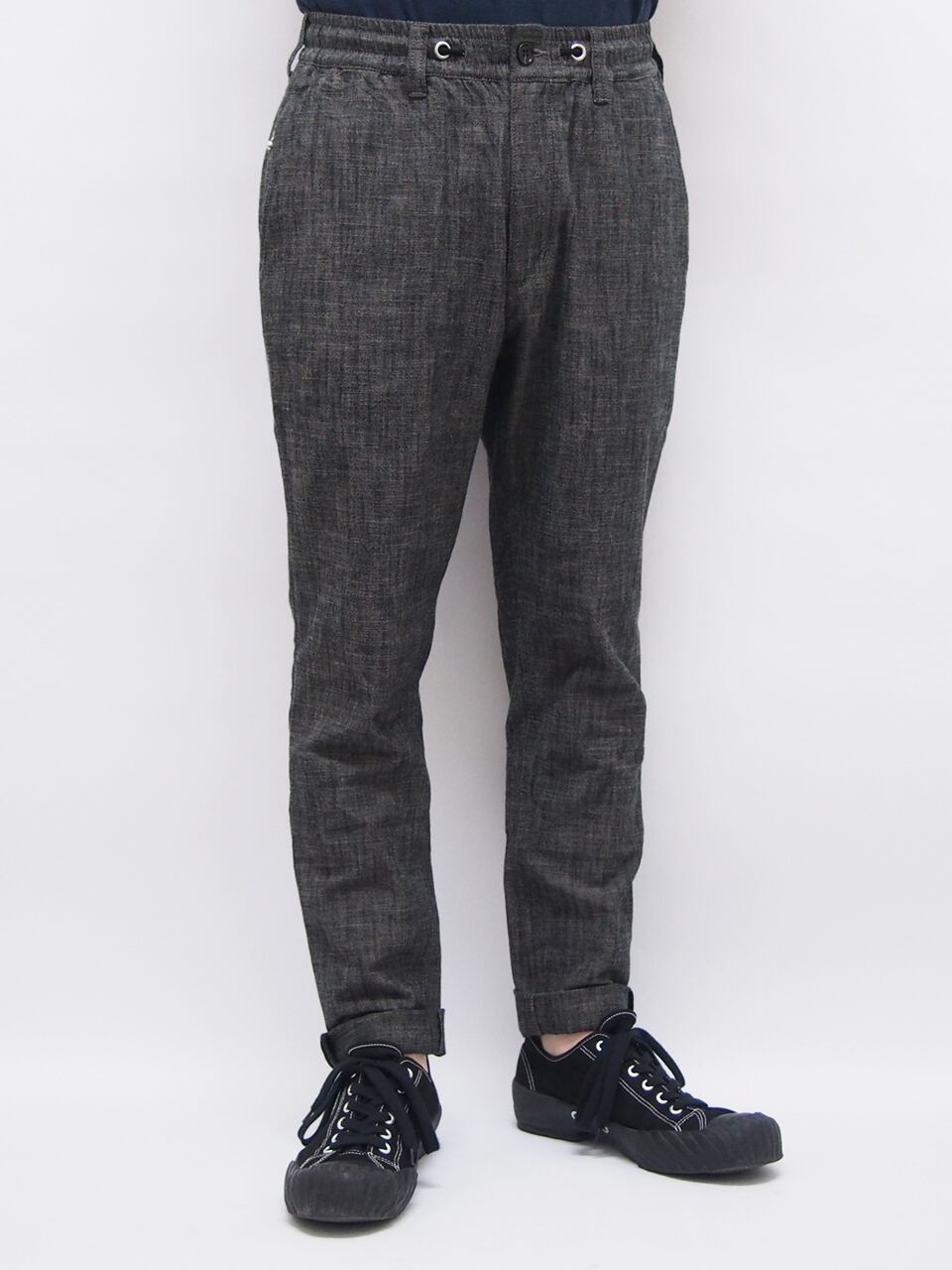EGO TRIPPING (エゴトリッピング) MARBLING EASY TROUSERS / GRAY 623401-03
