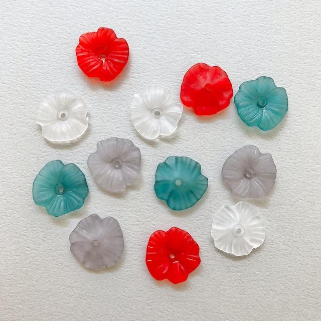 マットなお花カボションパック(6p)