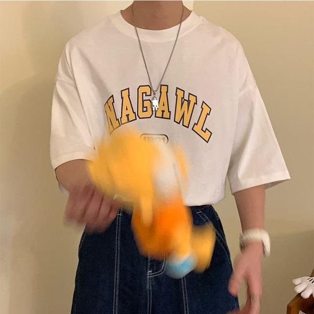 NAGAWL ロゴプリントTシャツ YH7002