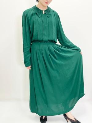 Vintage Deep Green Dress