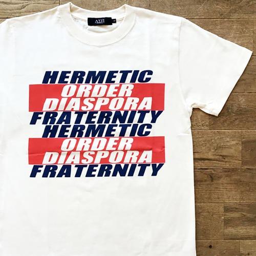 【ラスト1/Diaspora Skateboards】Hermetic Order Tシャツ/ナチュラル