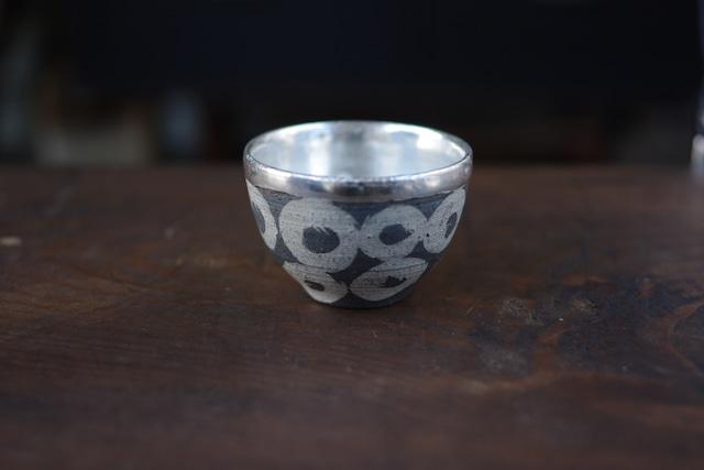 茶杯 黒×ぐりぐり 谷井直人