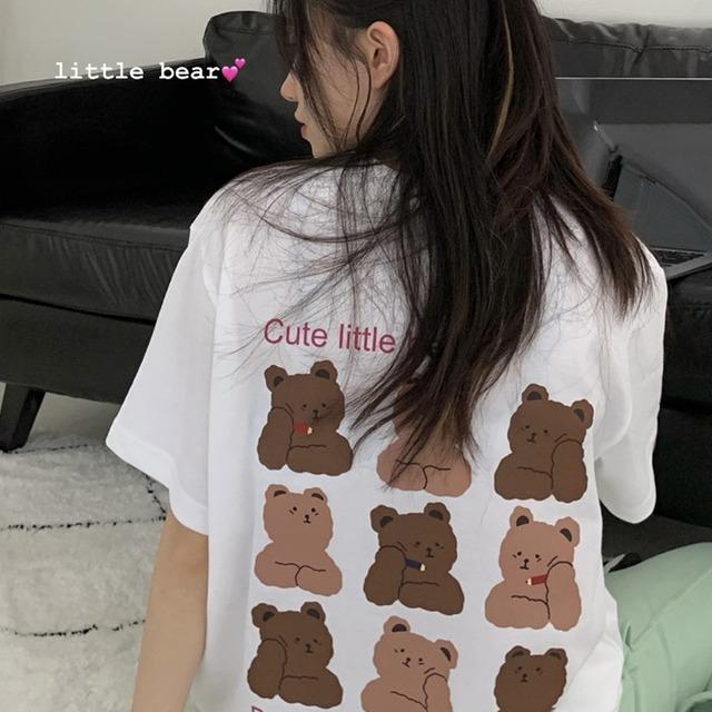 【トップス】カジュアルプリントカートゥーンTシャツ46858954