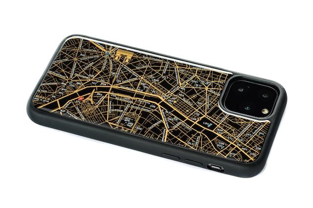 FLASH Paris回路地図 iPhone 11 Pro ケース  黒【東京回路線図A5クリアファイルをプレゼント】