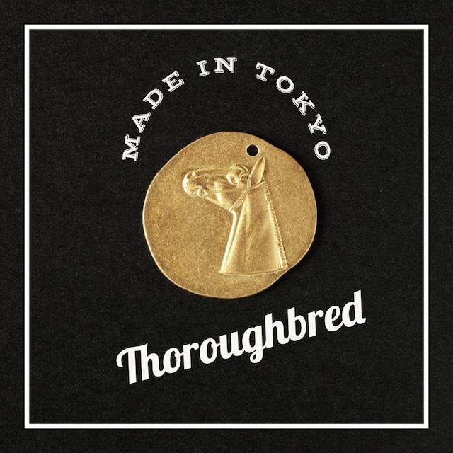 【1個】ペンダントトップ 馬 サラブレッド(日本製、真鍮、無垢)
