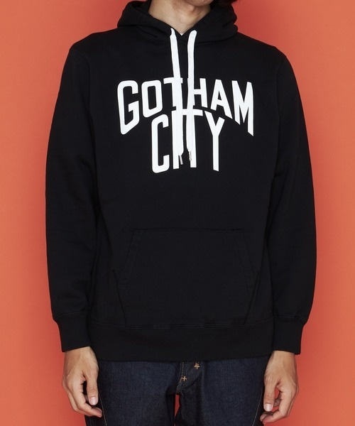 NUMBER (N)INE【ナンバーナイン】GOTHAM CITY_HOODY SWEATSHIRT スウェットパーカー(ブラック)