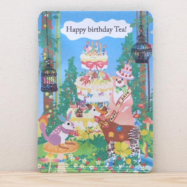 Happy birthday Tea!|ホラグチカヨさんのイラストと和紅茶のコラボ|ごあいさつ茶