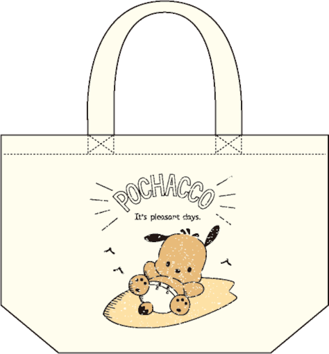 ポチャッコ cafe 限定コラボランチトート(サーフボードタイプ)