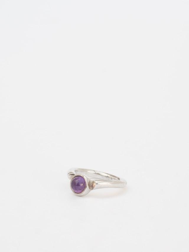 Modern Purple Amethyst Ring / Jens J. Aagaard