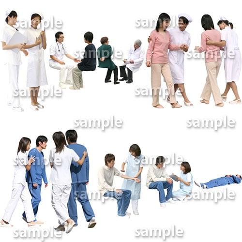 医療人物SketchUp素材10個 4p_set045 - 画像2