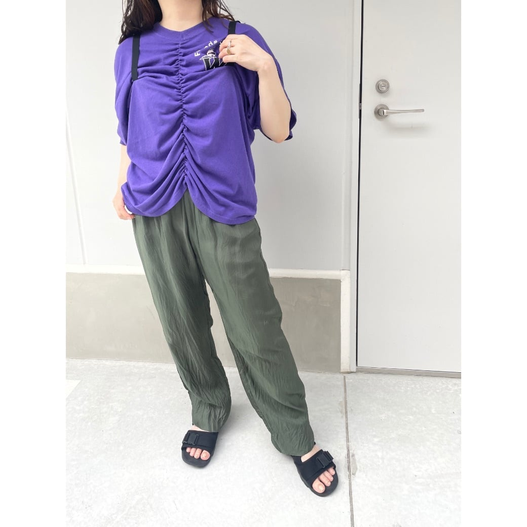 【RehersalL】 strap Tshirt(9) /【リハーズオール】ストラップTシャツ(9)
