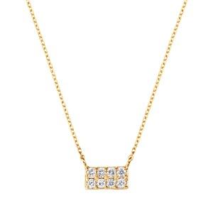 K18YGダイヤモンドネックレス 020201009415