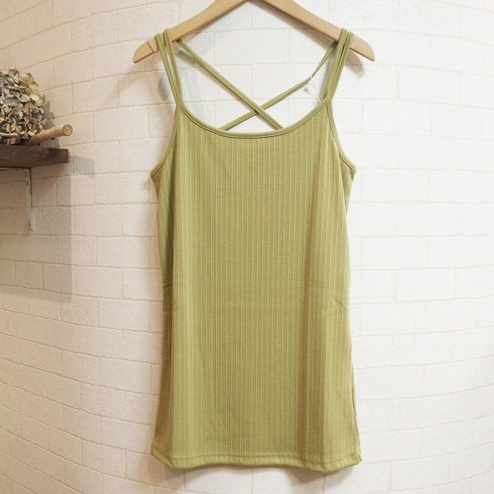 【SALE】rib camisole  <green>