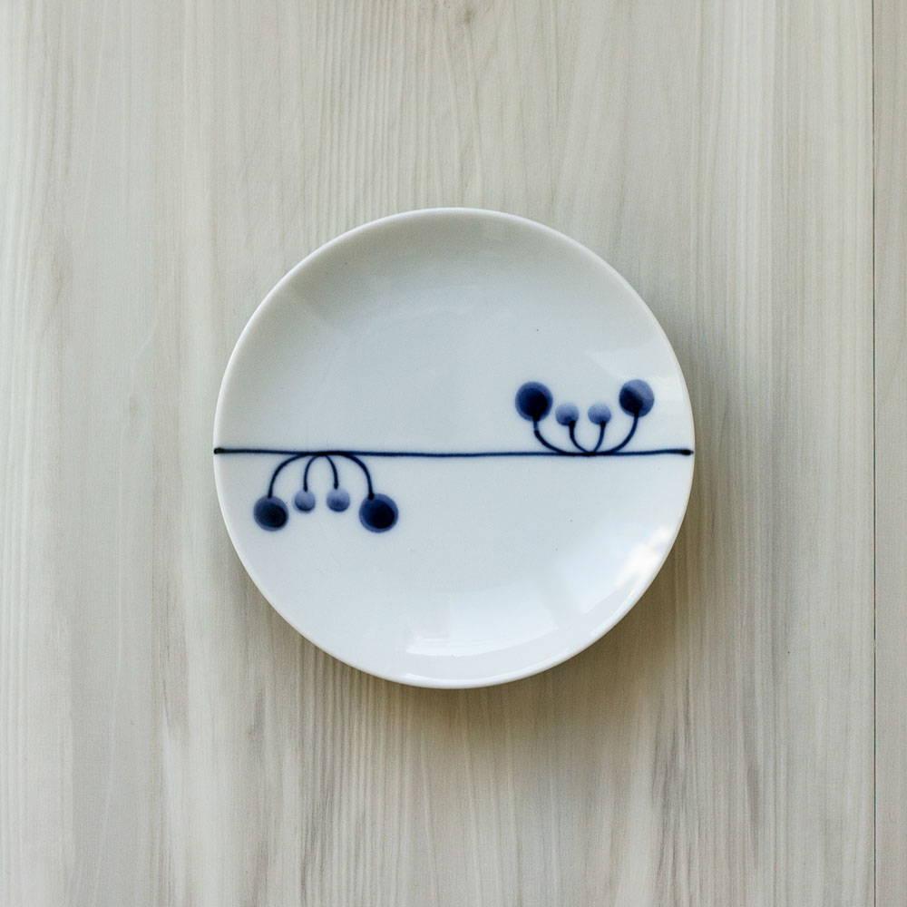 波佐見焼 WAZAN 和山窯 flowers 小皿 リズム 385933