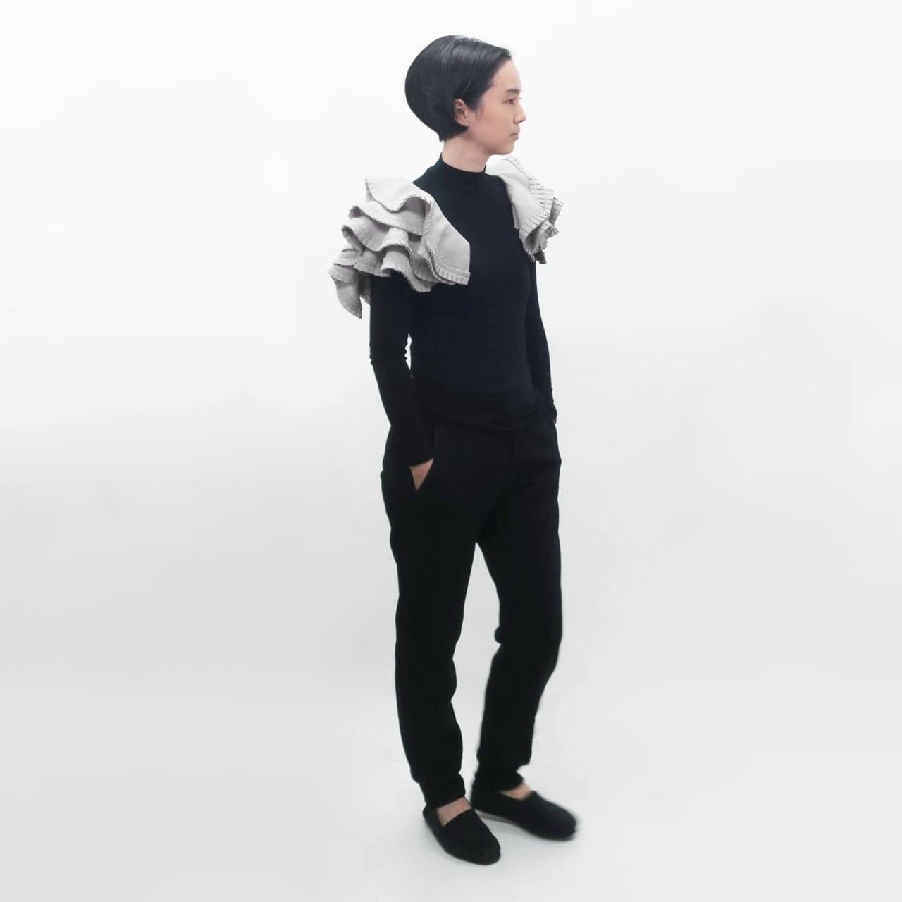 受注制/泥染/フリーサイズ/タックフリルボレロ/T-2