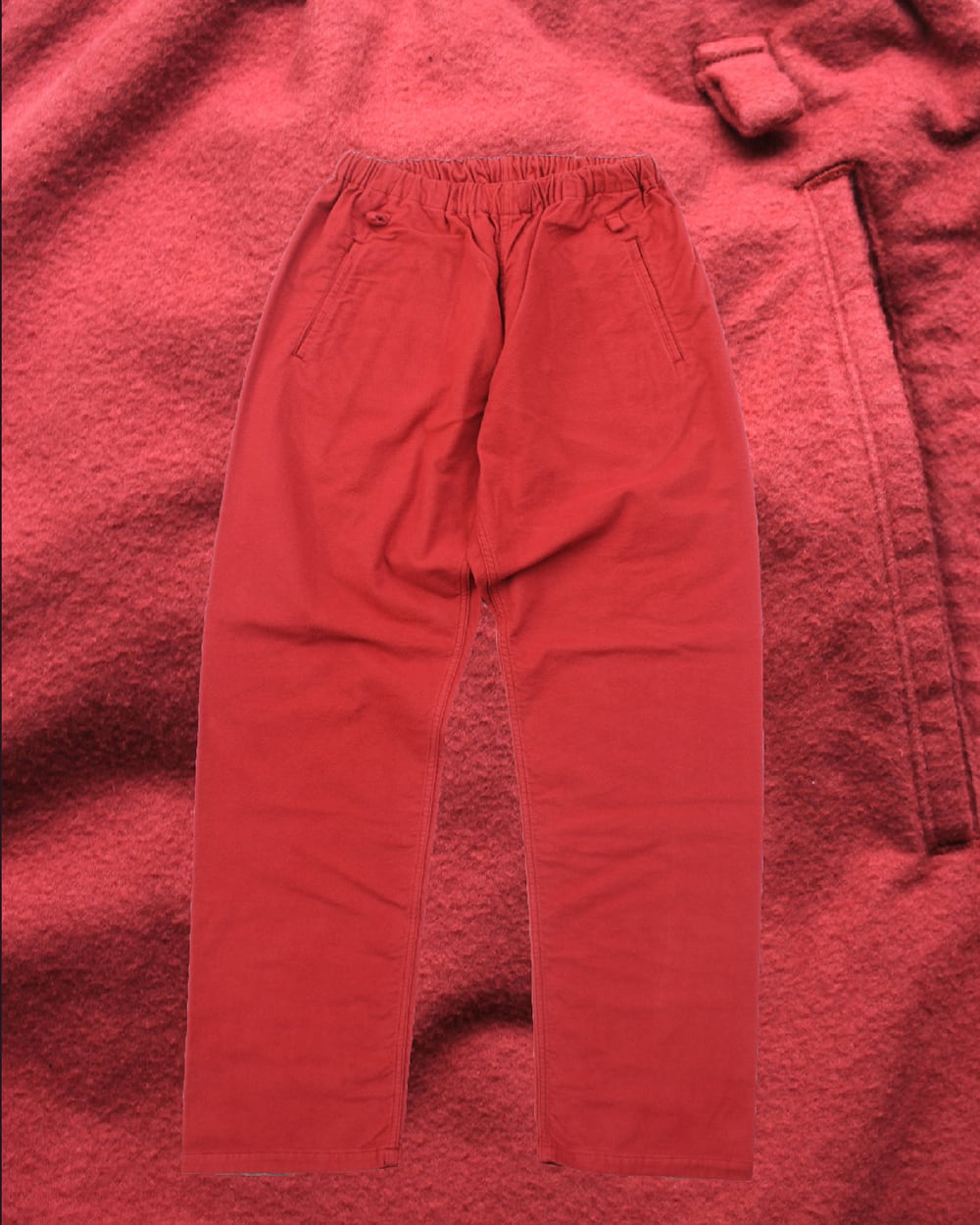 """EACHTIME. Easy Pants """"Vintage Flannel"""" Red"""