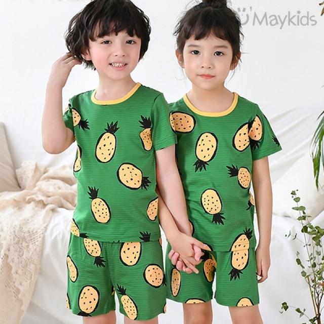 半袖パイナップルのルームウェア / 韓国子供服