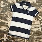 Abercronmbie&FitchメンズボーダーポロシャツSサイズ
