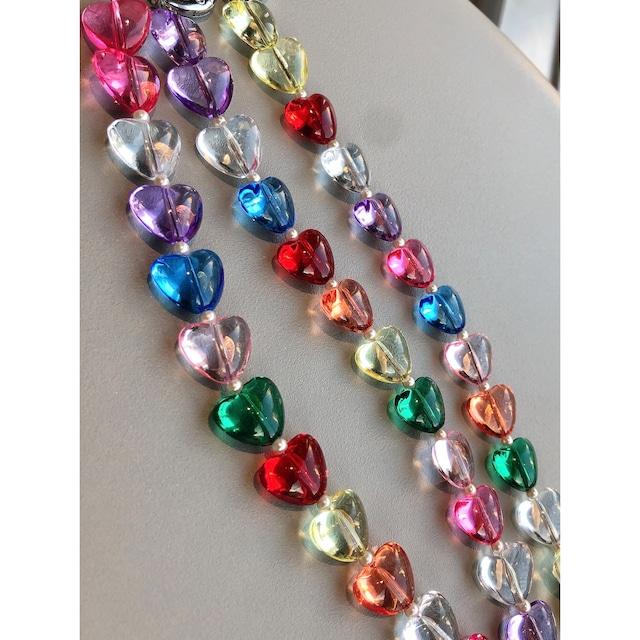 HEART COLOR MIX STRAP -3color-