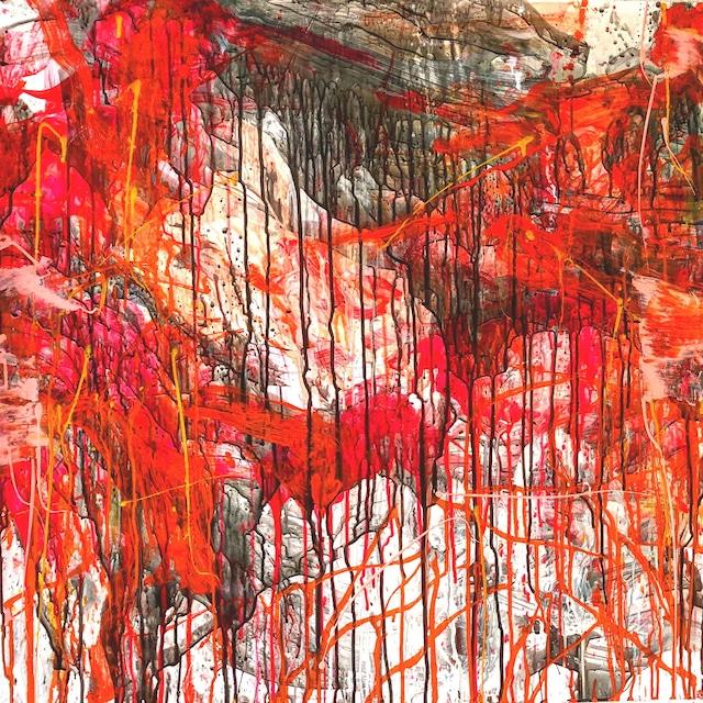 絵画 絵 ピクチャー 縁起画 モダン シェアハウス アートパネル アート art 14cm×14cm 一人暮らし 送料無料 インテリア 雑貨 壁掛け 置物 おしゃれ 抽象画 現代アート ロココロ 画家 : tamajapan 作品 : t-27